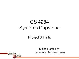 CS 4284 Systems Capstone
