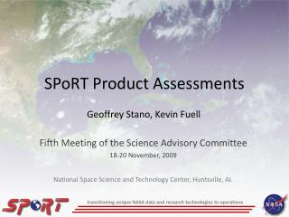 SPoRT Product Assessments