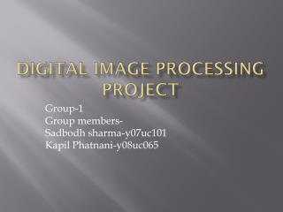 Digital Image Processing Project