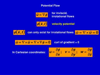 for  inviscid , irrotational flows