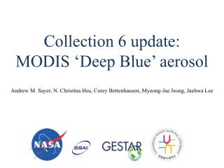 Collection 6 update: MODIS 'Deep Blue' aerosol