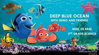 Deep Blue Ocean with Nemo and Friends