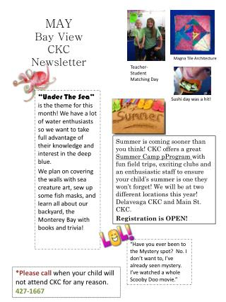 MAY  Bay View  CKC Newsletter