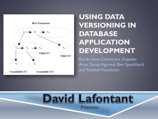 Using Data Versioning in Database Application Development