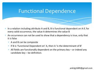 Functional Dependence