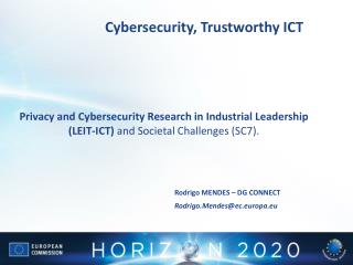 Cybersecurity ,  Trustworthy ICT