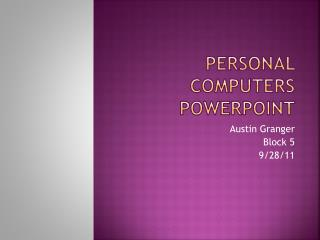 Personal Computers PowerPoint