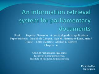 An information retrieval system for parliamentary documents