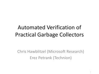 Automated Verification of Practical Garbage Collectors