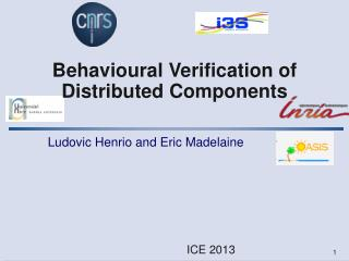 Behavioural  Verification of Distributed Components