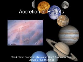 Accretion of Planets