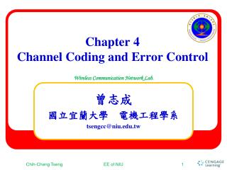 Chapter 4 Channel Coding and Error Control