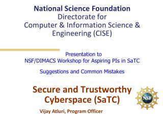 Vijay  Atluri , Program Officer