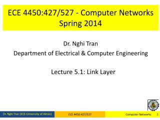 ECE 4450:427/527 - Computer Networks Spring 2014