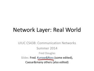 Network Layer: Real World