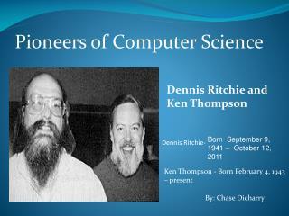 Pioneers of Computer Science