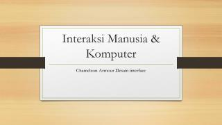 Interaksi Manusia & Komputer