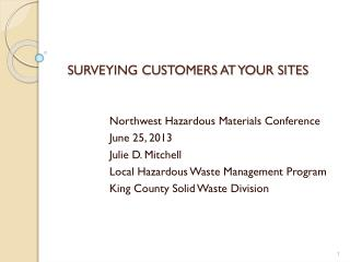 Surveying Customers At Your Sites
