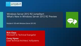 Module  6:  VDI with Windows Server 2012 R2