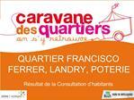 QUARTIER FRANCISCO FERRER, LANDRY, POTERIE  R sultat de la Consultation d habitants