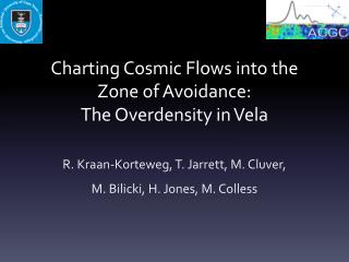 Charting Cosmic Flows into the Zone of Avoidance:  The  Overdensity  in Vela