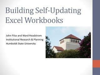 Building Self-Updating Excel Workbooks