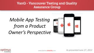 Mobile App Testing from a Product Owner's Perspective