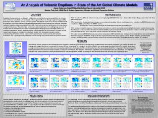 An Analysis of Volcanic Eruptions in State of the Art Global Climate Models