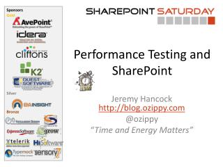 Performance Testing and SharePoint