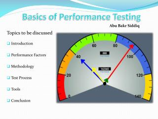 Basics of Performance Testing