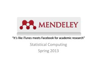 �It�s like iTunes meets Facebook for academic research�