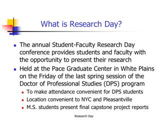 What is Research Day?