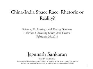 Jaganath Sankaran Post-Doctoral Fellow
