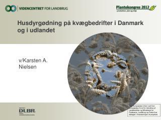 Husdyrgødning på kvægbedrifter i Danmark og i udlandet