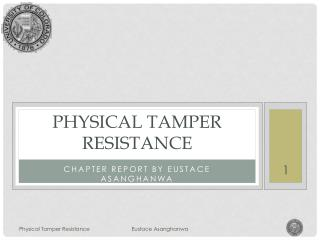 Physical tamper Resistance