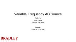 Variable Frequency AC Source
