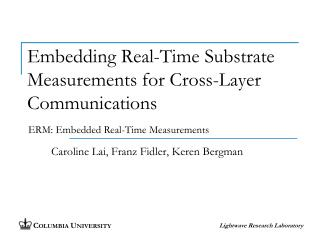 Embedding Real-Time Substrate Measurements for Cross-Layer Communications