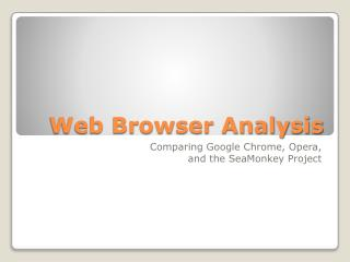 Web Browser Analysis