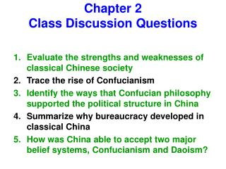 Chapter 2 Class Discussion Questions