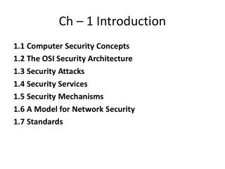 Ch � 1 Introduction