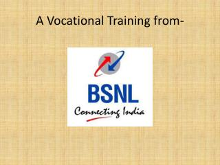 A Vocational Training from-