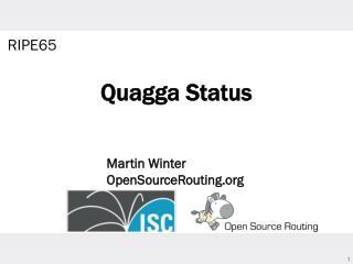 Quagga Status