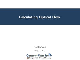 Calculating  Optical Flow