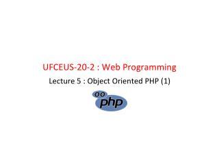 UFCEUS-20-2 : Web Programming