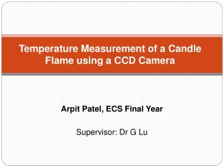 Temperature Measurement of a Candle Flame using a CCD Camera