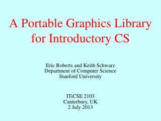 A Portable Graphics Library for Introductory CS