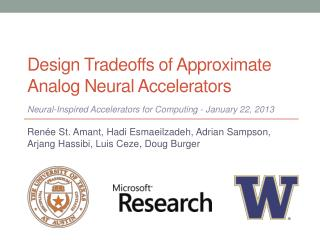 Design Tradeoffs of Approximate Analog Neural Accelerators