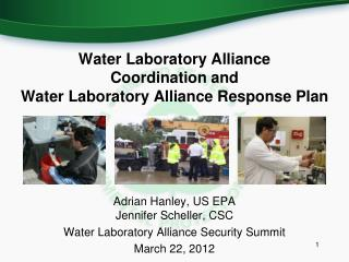 Water Laboratory Alliance  Coordination and  Water Laboratory Alliance Response Plan
