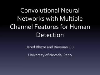 Convolutional Neural Networks with Multiple Channel Features for Human Detection