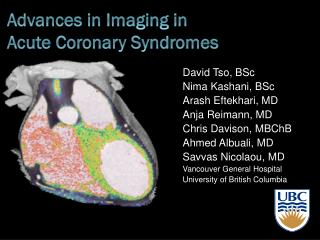 Advances in Imaging in  Acute Coronary Syndromes